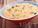Рецепта Пиле фрикасе със сметана, гъби и червен пипер